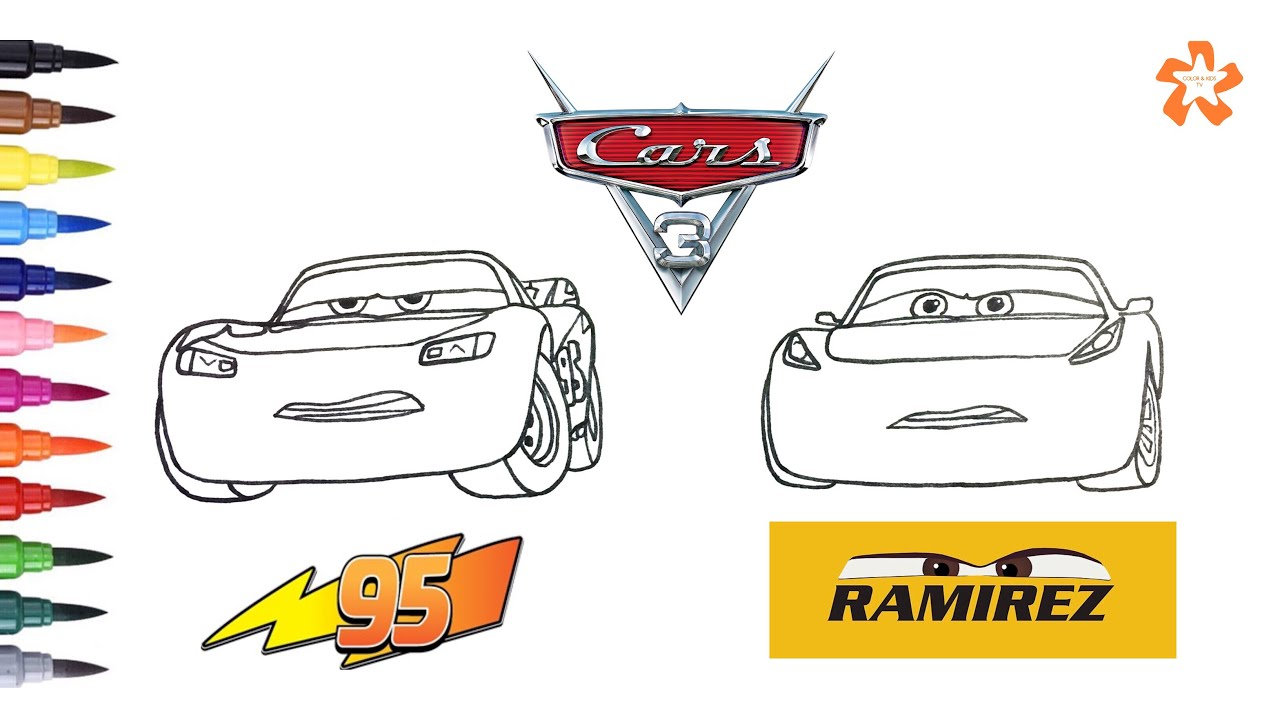 Cars 3 Coloring Lightning Mcqueen And Cruz Ramirez Coloring
