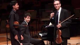 Gil Shaham Masterclass - Mozart Concerto No. 5 - Akshay Dinakar