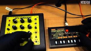 KORG MONOTRON DELAY RESONACE MOD PART 2 LFO comes from MFB NANOZWERG 1 Resimi