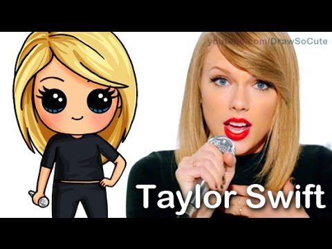 How To Draw Chibi Taylor Swift Cute Step By Step Shake It Off Music