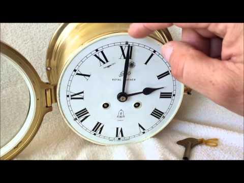 Large German 8 Day Schatz Royal Mariner Bulkhead Maritime Ship Clock