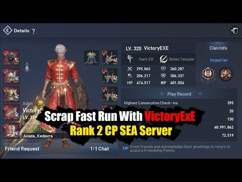 Repeat Lineage 2 Revolution Scrap Fast Run with Rank 2 SEA