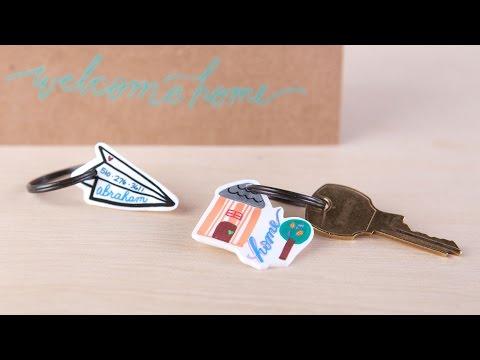 Shrinky Dink Key Ring