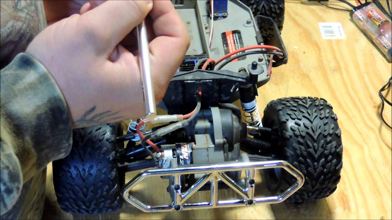 traxxas slash wheelie bars install
