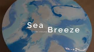 Sea Breeze fluid acrylic with resin