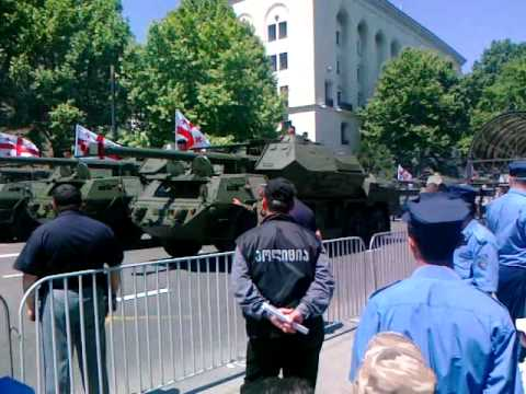 Independence day of Georgia,army parade in Tbilisi 2010 Грузия, военный Парад 2010