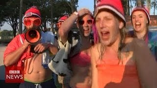 Brazil2014: inside a dutch football fans' campsite - bbc news