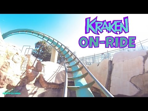 Kraken On-ride Front Seat (HD POV) SeaWorld Orlando