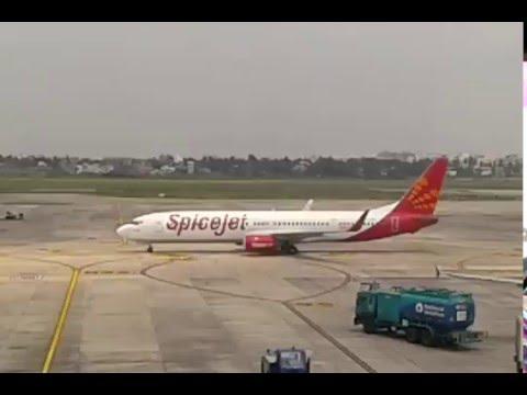 Spicejet Flight Take Off Kolkata Airport - Indigo Flight Take Off Dumdum Airport Runway