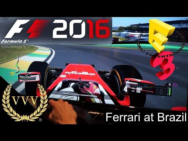 F1 2016 Ferrari Sebastian Vettel Brazil E3 2016