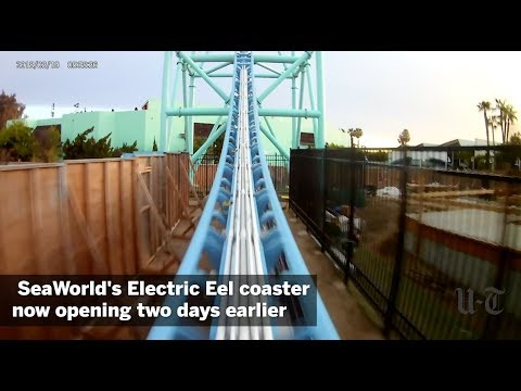 Shelley Wade - SeaWorld's Electric Eel Coaster Opening Early!