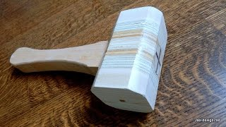 Make a Wooden Mallet -  Dead blow