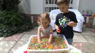 Шарики растущие ORBEEZ сюрпризы игрушки с шариками Орбиз Challenge surprise toys unboxing(Катя с Максом ищут сюрпризы в цветных шариках/Лалалупси пакетик с игрушкой сюрприз, Черепашки Ниндзя пакет..., 2015-07-07T17:39:14.000Z)