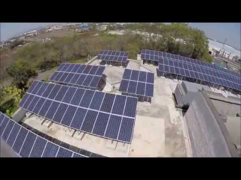 Solar Power Plant on RCC roof of Gabriel India Limited