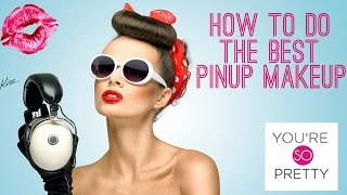 How to Do Pinup Makeup Tutorial Thumbnail