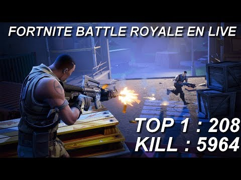 [FR/PC/LIVE] Fortnite  en solo 208 wins!