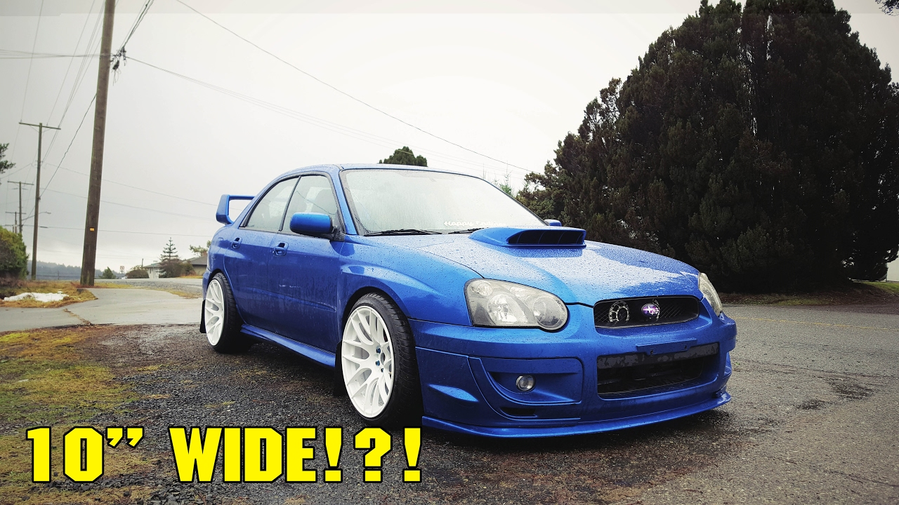 2017 Sti Lowered >> WIDE WHEELS for the Blobeye - Crazy Poke - YouTube