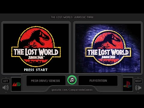 The Lost World: Jurassic Park (Sega Genesis vs Playstation) Side by Side Comparison