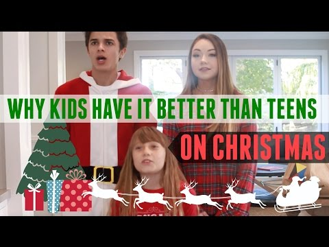 Why Kids Have it Better than Teens on Christmas (w/ Meredith Foster) | Brent Rivera