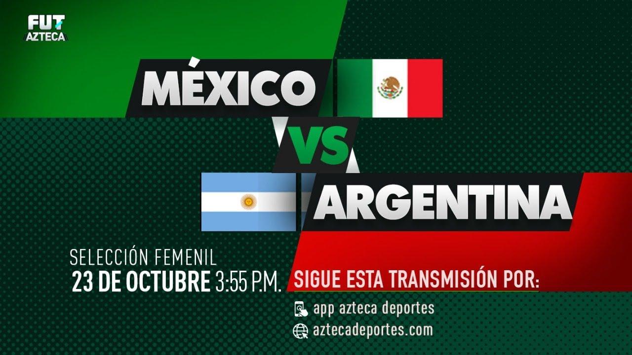 México vs Argentina Femenil | Partido Completo | Partido Amistoso
