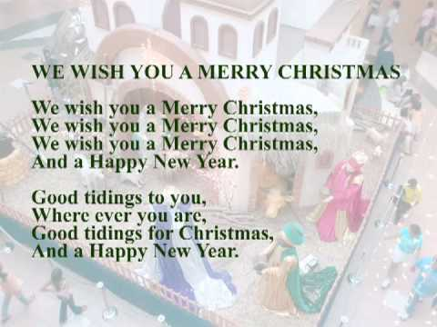 Villancico - We wish you a Merry Christmas - YouTube
