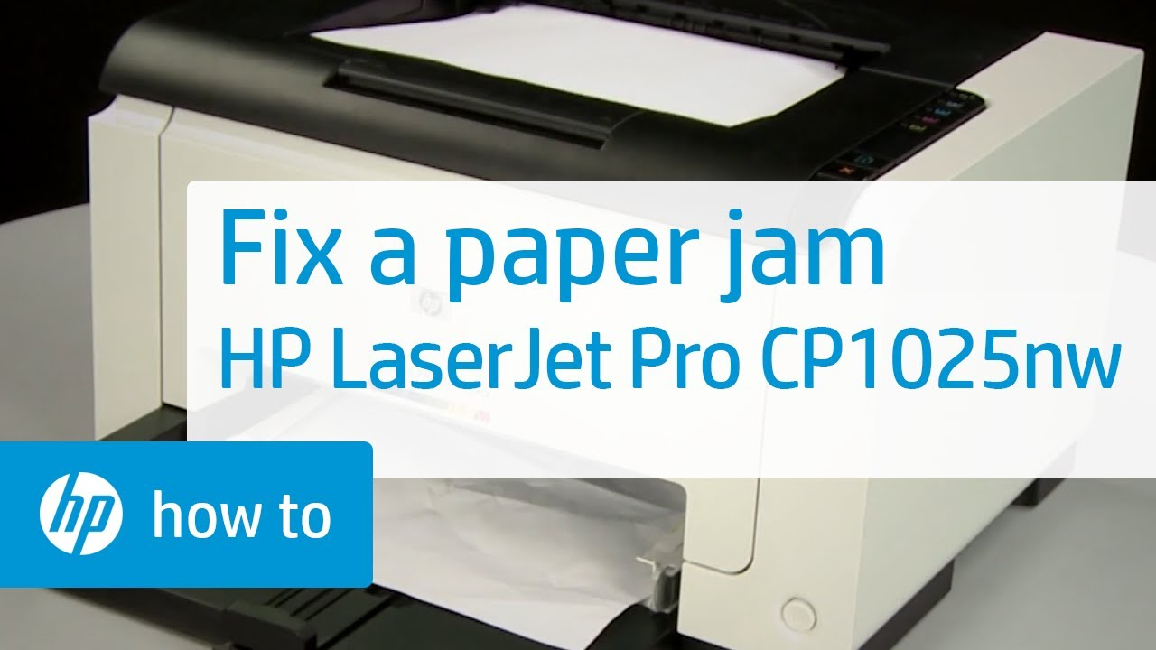 Fixing A Paper Jam Hp Laserjet Pro Cp1025nw Color