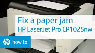 Fixing a Paper Jam | HP LaserJet Pro CP1025nw Color Printer | HP