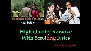 Sang mere nikle the sajan || PHIR WOHI RAAT 1980 || karaoke with scrolling lyrics (High Quality)