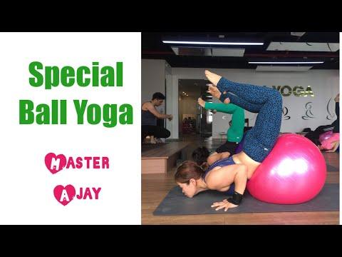 1 Hour Ball Yoga Learning practice with Master Ajay / Jai yoga