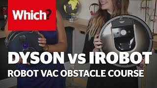 Irobot Roomba 980 vs Dyson 360 Eye - robot vacuum obstacle course