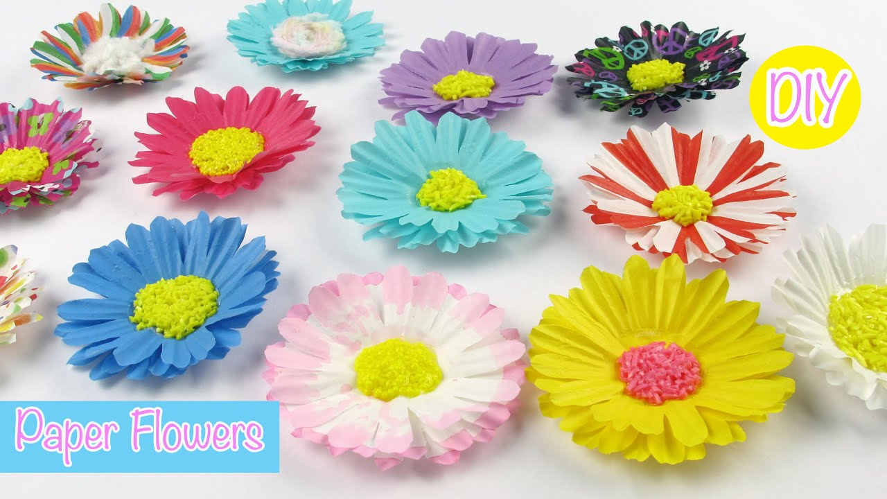 Diy paper craft paper flowers easy room decorparty decor youtube mightylinksfo