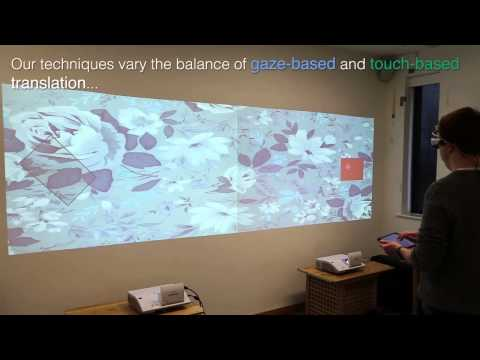 Gaze+RST: Integrating Gaze and Multitouch for Remote Rotate-Scale-Translate Tasks