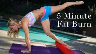 5 Minute Fat Burn #130 - Foam Roller Exercises