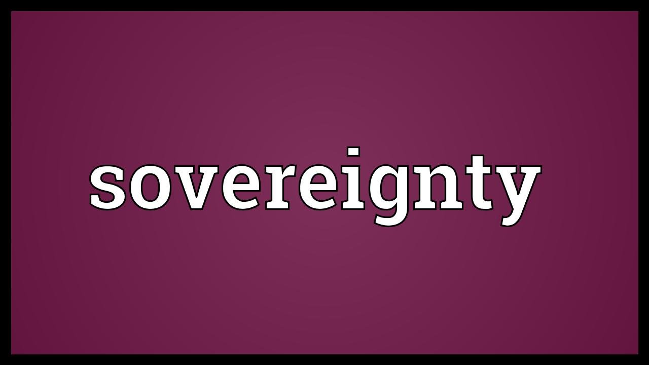 sovereignty meaning