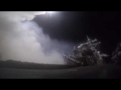 USS Porter & USS Ross Strikes on Syria video