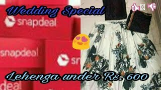 Snapdeal Haul | Lehenga Review | Wedding Special | Affordable Shopping | BEAUTIFULSOULCHANNEL TOCHI