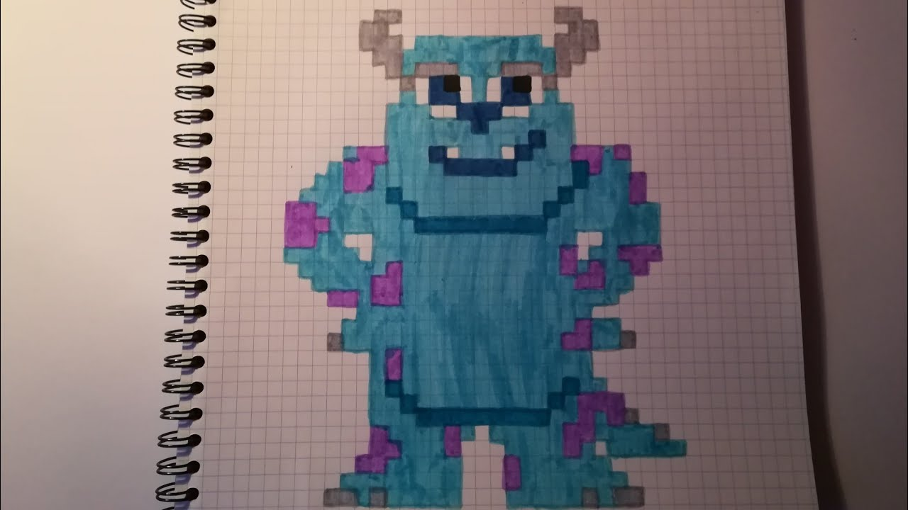 Pixel Art Sully Monstres Et Compagnie Youtube