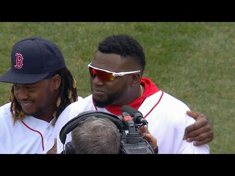 Ortiz honored at Fenway before home opener