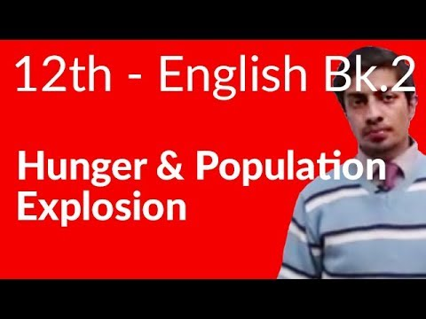 12th Class English Book II Chapter 9 Hunger And Population Explosion