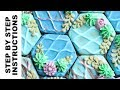 Easy Succulent Cookie Design - Cookie Decorating Royal Icing Experiment - Faux Clay Finish