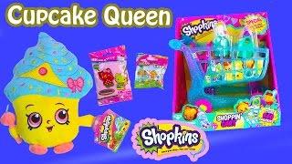 Limited Edition Cupcake Queen Plush Shopkins Season 3 LARGE SHOPPING CART Blind Bag Surprise