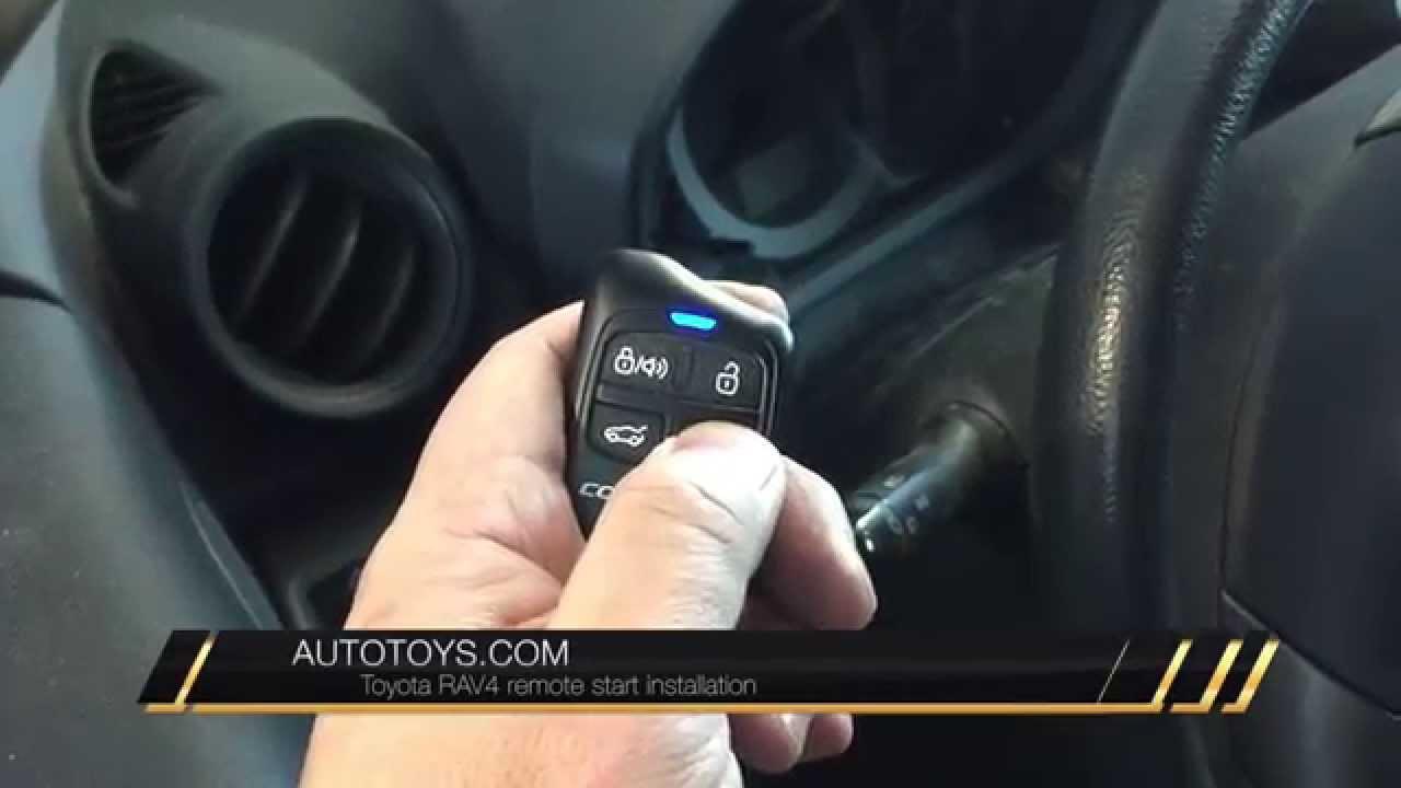 TOYOTA RAV4 REMOTE START BY AUTOTOYS COM IDATALINK COMPUSTAR  YouTube