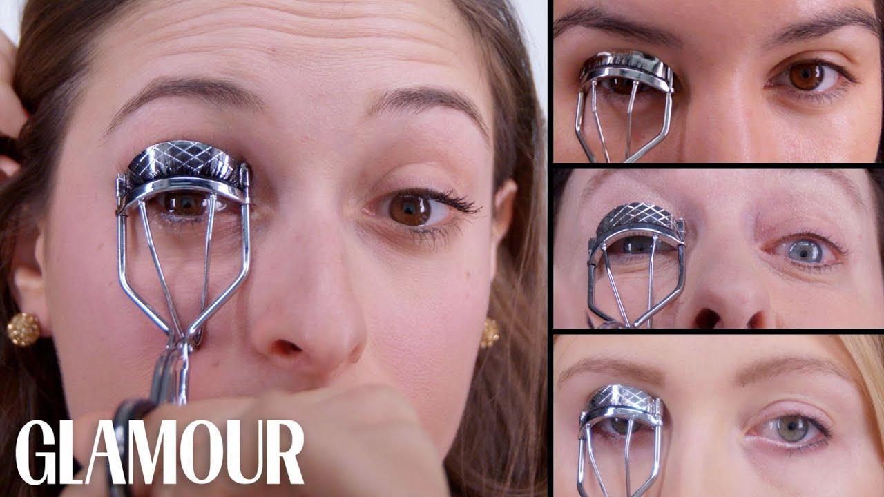50 Women Try Applying False Lashes | Glamour