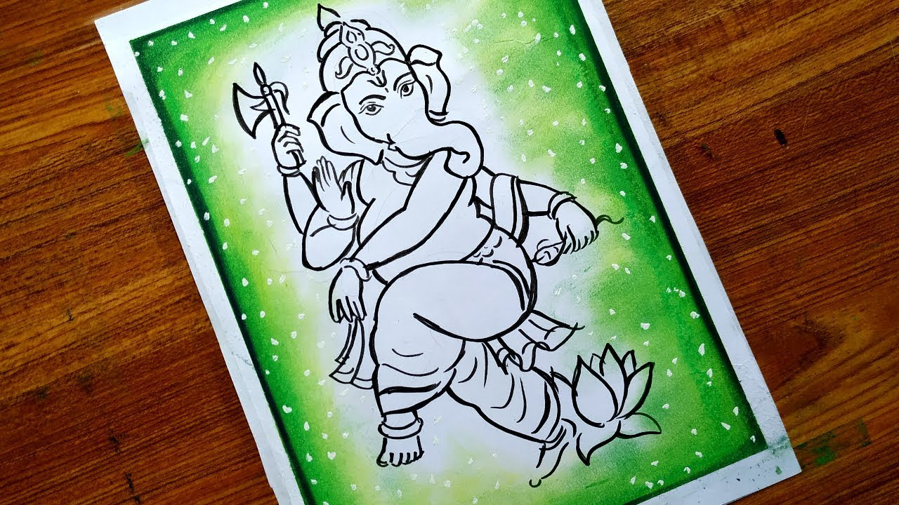 How To Draw Ganpati Bappa For Ganesh Chaturthi God Ganesh Drawing Lord Ganesh Drawing Bal Ganesh Youtube
