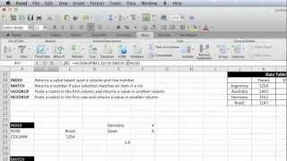 EAF # 17 - Mac2011 - Index, Match, VLookup and HLookup