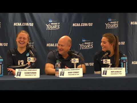 NCAA DII WVB Semifinals #2 Concordia-St. Paul Postgame