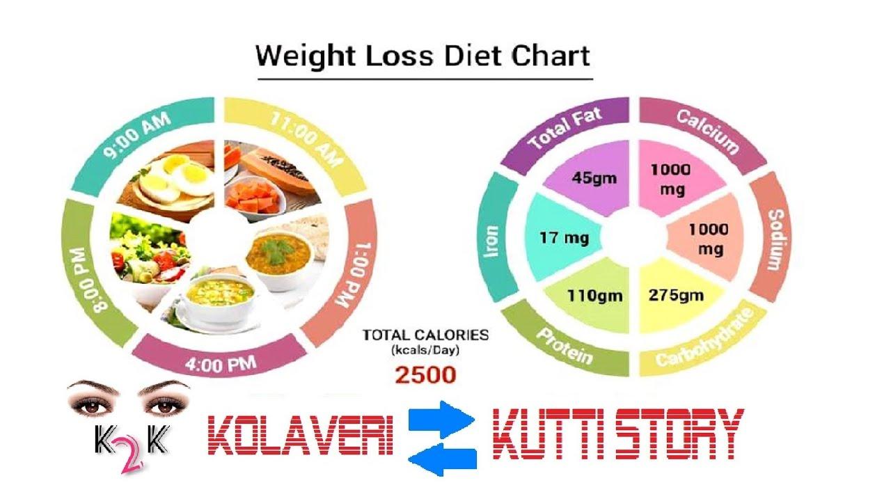 Weight Loss Diet Chart FULL DAY DIET CHART