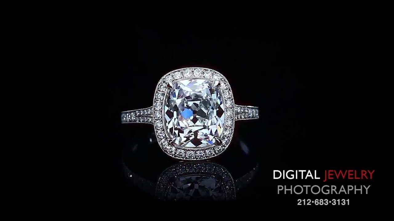 3ct Cushion Cut Halo Diamond Ring