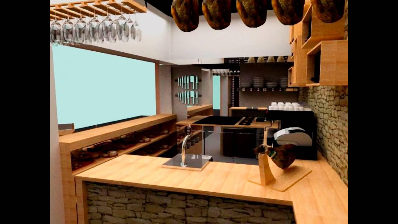 Tasca roque dise o interior mercado ntra se ora de for Disenos de bares en madera