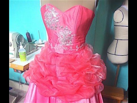 Como hacer un vestido de fiesta con olanes